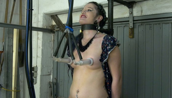Doreen with Milking Machine Rides the Sybian
