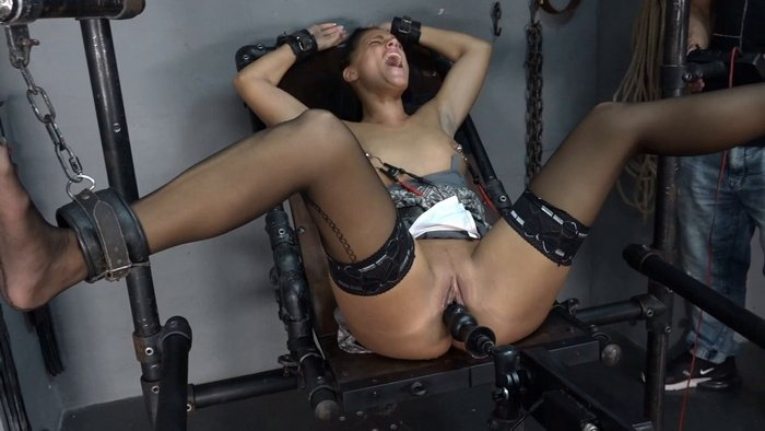 Tied Christy Fucking Machine and Electricity
