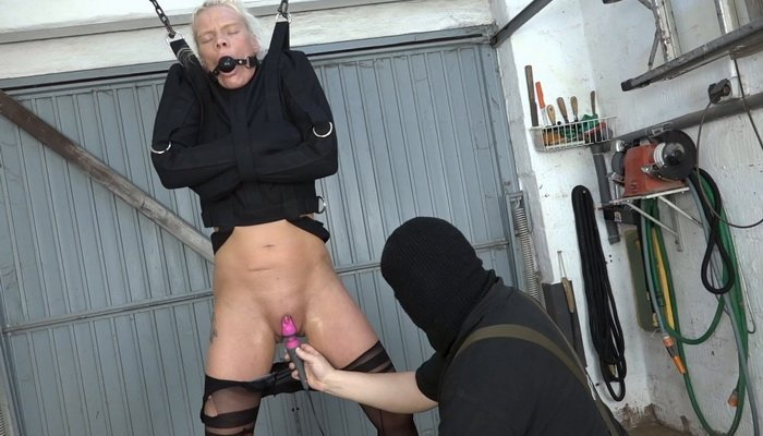 Lissy Ballgag and Vibrator with a Straitjacket