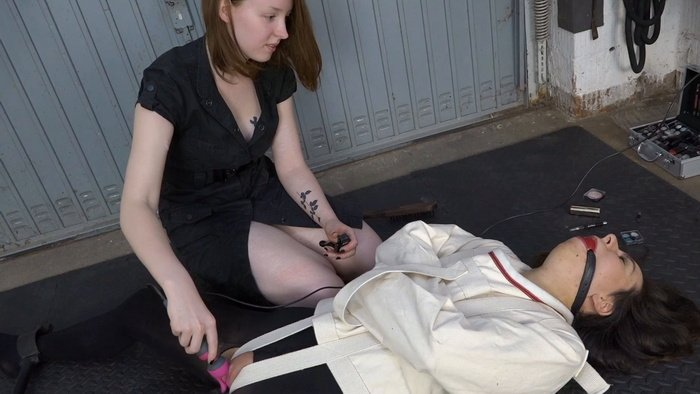 Ronja Plays Dominatrix with her Slave Aiyana
