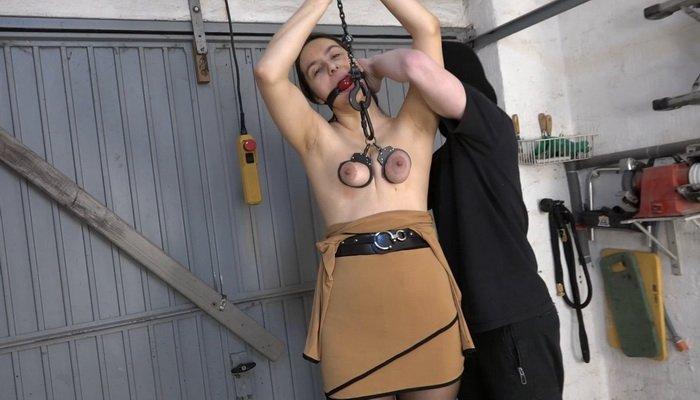 Tied Up, Ballgag and Spanking Aiyana