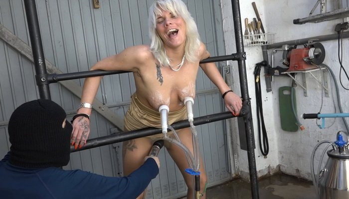 The Wild Lissy is Milked Torture Machines