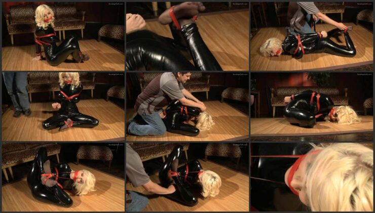 Black Cat Moan – Danielle Dressed in a Tight Black Catsuit wmbcv-0368