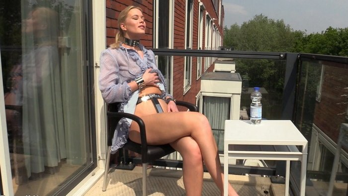 Summer Vibes in a Collar and Chastity Belt