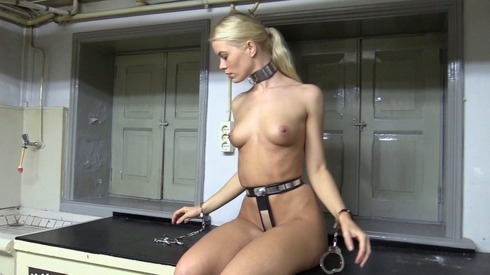 Nipple Clamps and Training Self with Cuffing My Hands Above My Head