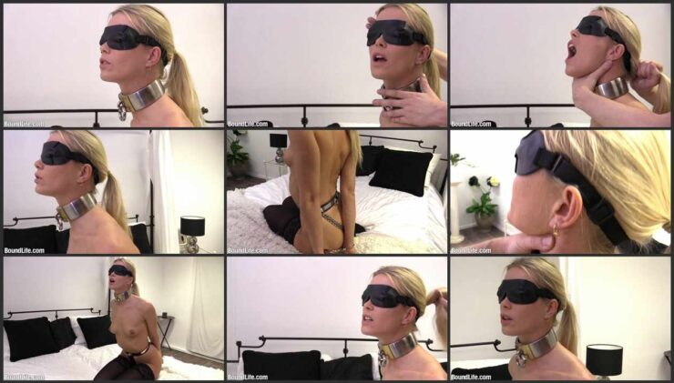 Neck Play and Hair Pulling with Handcuffed and Blindfold