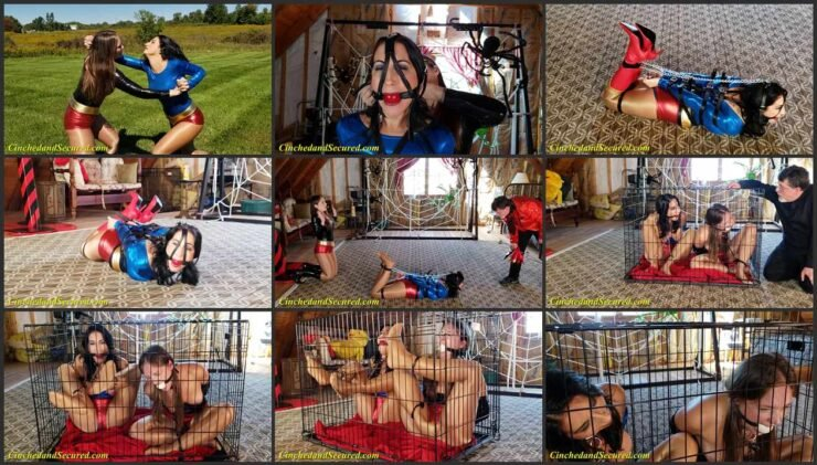 Chained and Topless, Locked in a Cage UberGirl vs. UltraGirl
