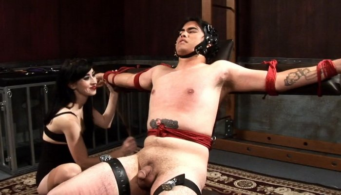 Flogging and Caning on a Bondage Chair