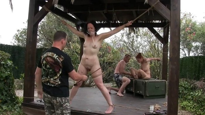 Tied Outdoor Punishment for Slave Minuit