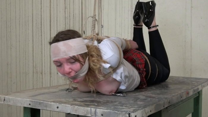 Young Schoolgirl Tied Up in Dirty Room and Hard Tortured