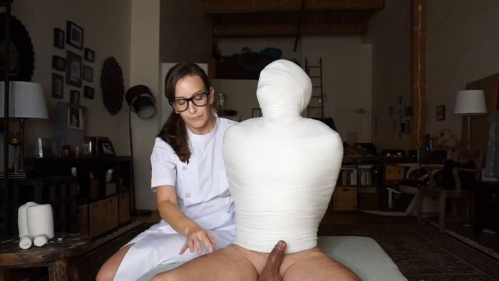 Nurse Eliza Fully Mummified Kino's patient body