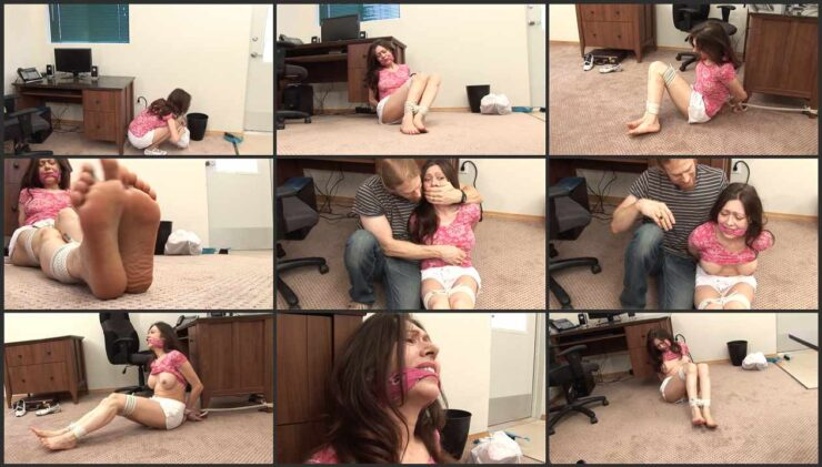 Intruder Plays With Natasha's Tits While She Is Tied Up