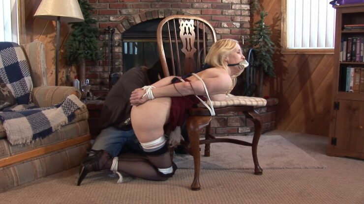 Nice Eden in quite a situation, tied up half-naked