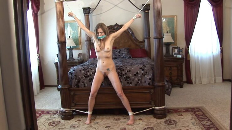 Sexy Star all bound roped up naked
