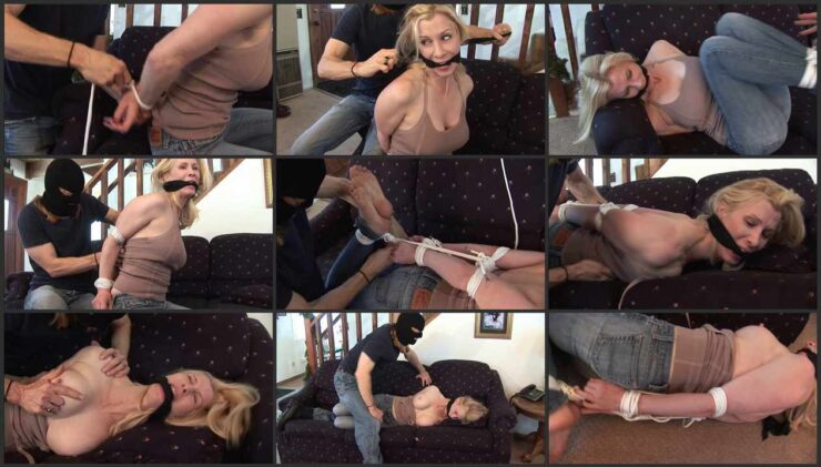 Eden's Wrists are Tightly Bound and Elbow Hogtied