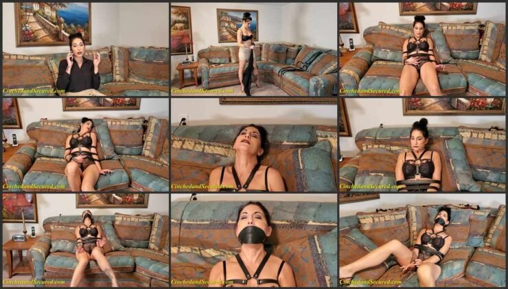 Poor Raven on the Unyielding Straps and Gagged – Herself to Climax
