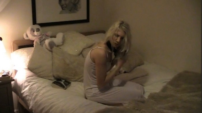Eos struggling like crazy with hogtied and tape gagged