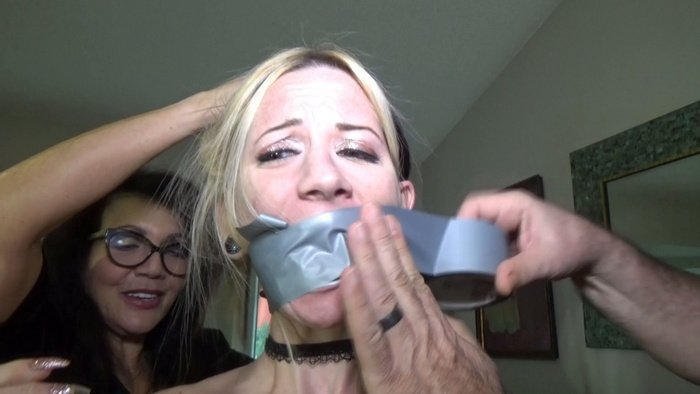 Nude Lexi tightly tied twice in brutal ties