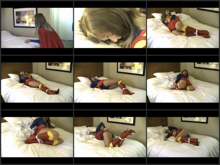 Supervivian tied in a Hotel Room and ballgagged of kryptonite