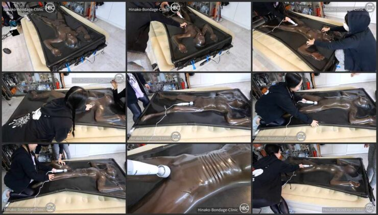 Vacuum Bed Party; First Time Vacuum Bed User Gets hard  Tickle Tortured by two nice Mistresses