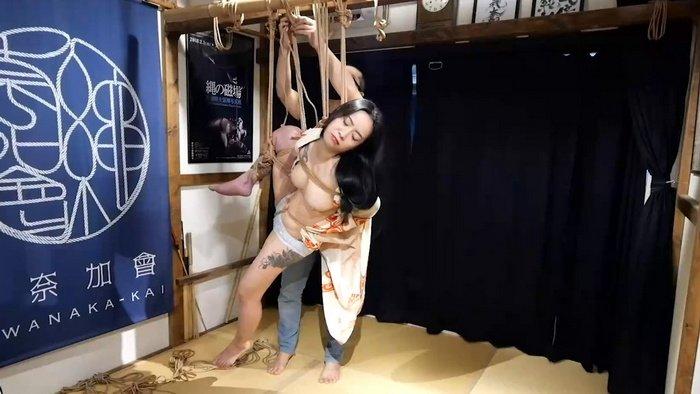 Rope Bondage on Tattoed Japanese Girl Wearing Traditional Japanese Lingerie – HBC X Kinbaku Work
