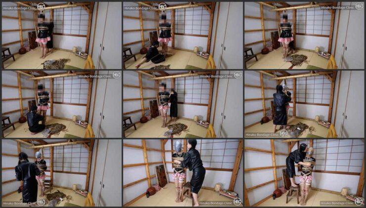 Hinako playing with PVC Maid
