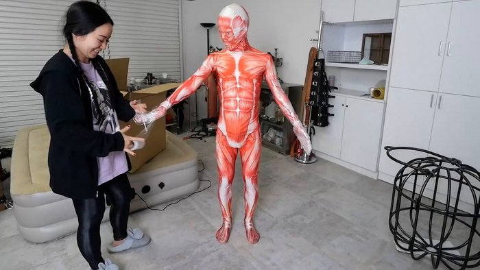 Human's Anatomical Model Packed Inside Cardboard Box after Gets Mummified