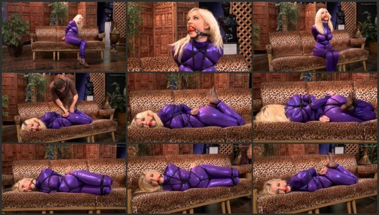 Danielle in is tight bondage purple dream. wmbcv-0464