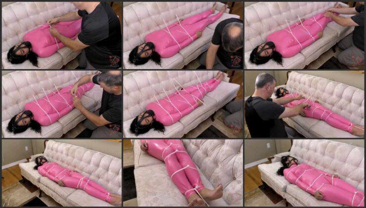 Kim had the gag secured and zipties to sleep