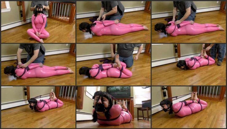 A tight hogtie for Jane in her first visit