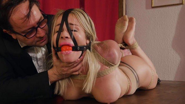 B urglar Pamela captured and tied up. Extreme hogtie series