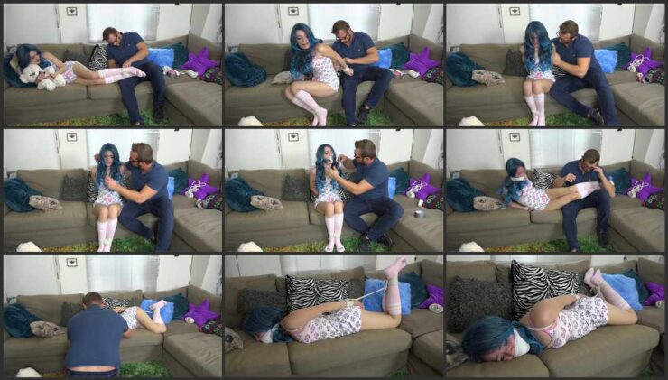 The Stepsister is very annoying, so she is Tied and with socks in her mouth