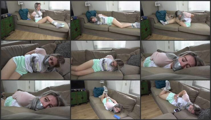Babysitter Luna is tied up and gagged