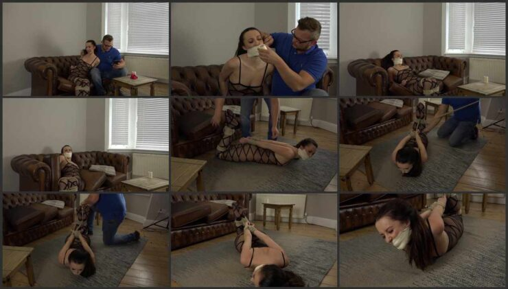 Girl next door late payment and was punished