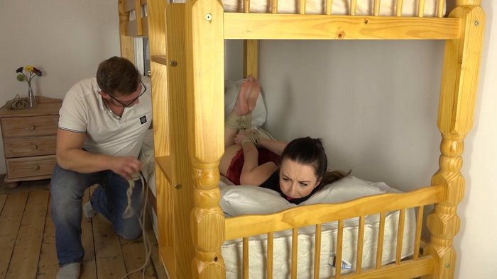 Bondage punishment for bad Babysitter duty