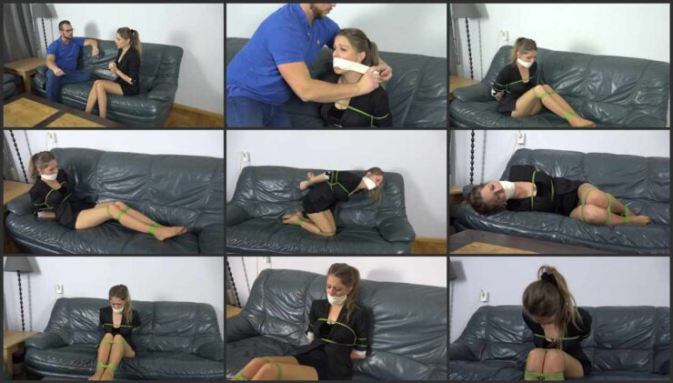 Fiscalist Violet punished for losing money with hard bondage and gagged. Episode 1