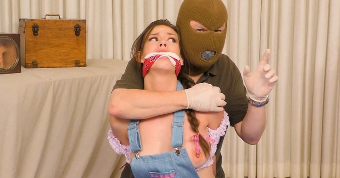 Lovely prisoner Madi destined to remain a helpless, bound and gagged. Damsels In A Haunted House – Part Four