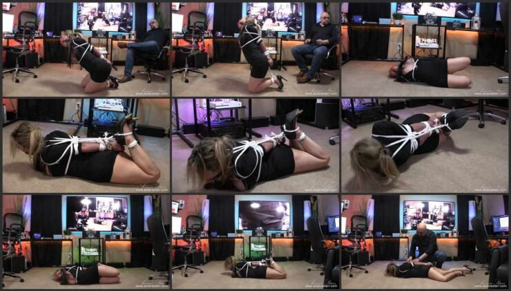 Slow, hard and steady destruction of bound Asiana middle of the office. Part 2