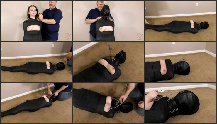 Hazel in mummification and nipple clamps