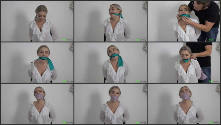 Multipe Cloth Gags with Aubrey. 3 Gag Video in one