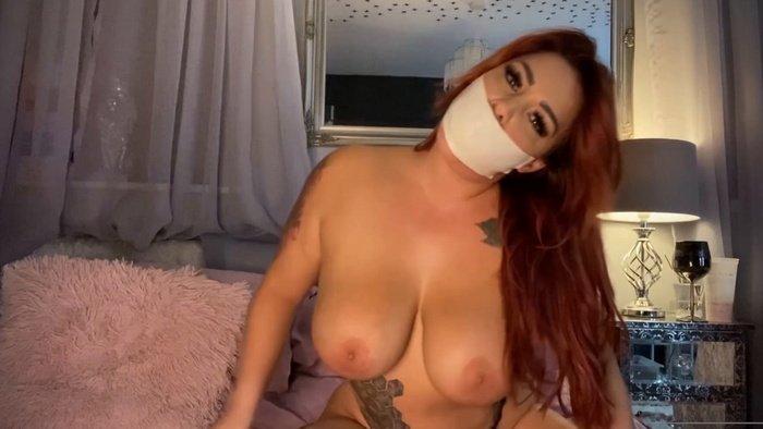 Super hot self gag video with nude Rara for you