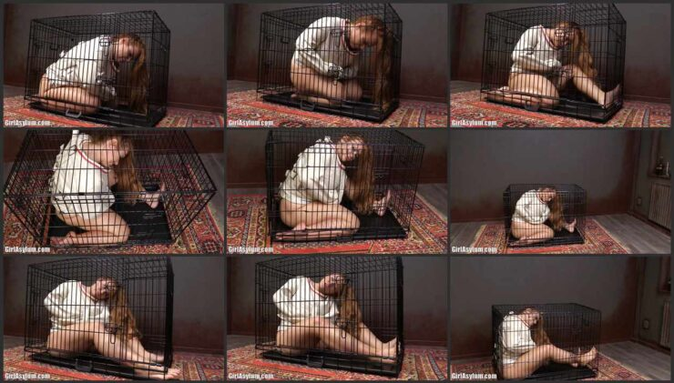 On Lisa was put on a straitjacket and locked in a cramped cage