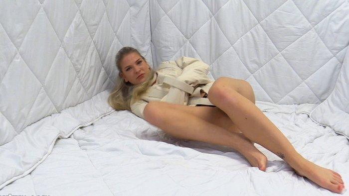 Nora Sparkle a white straitjacket