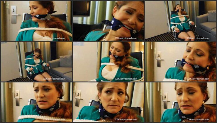 Vivian bound and gagged being held hostage in hotel room. Part 1