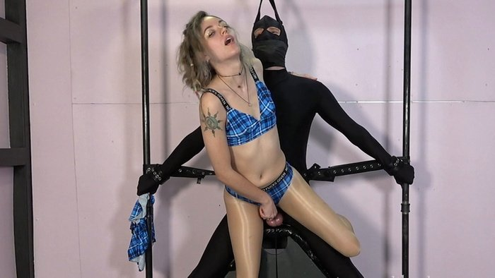 The little pervert is immobilized and I play with him as I want