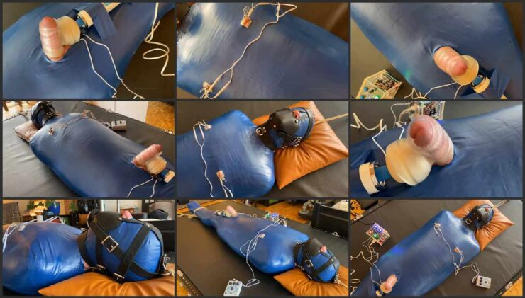 Hard bondage play, mummification, vibrator and torture with electric shock