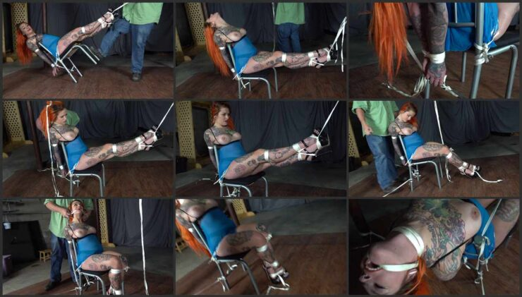 Quinn tied to a chair and is scared