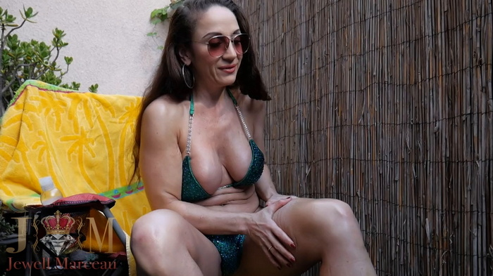 Sun Bathing and tight hog-tied Jewell. Part 1