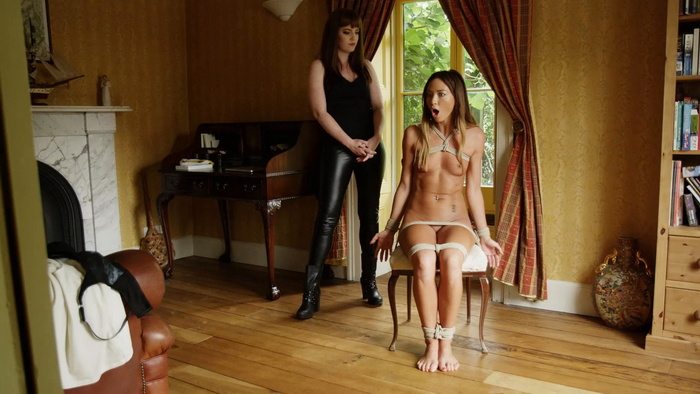 Natalia Forrest nude tied to a chair gagged