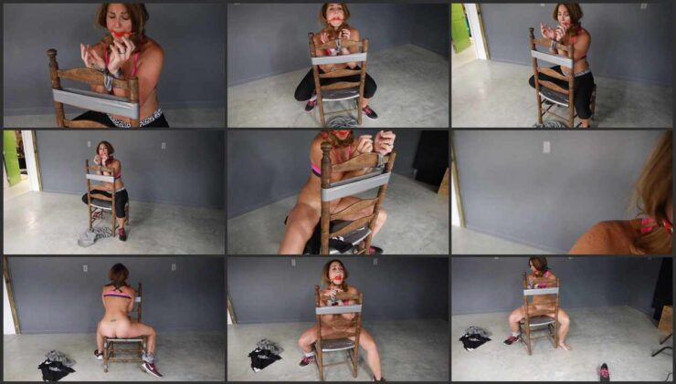 Carissa is tied, struggles and loses clothing